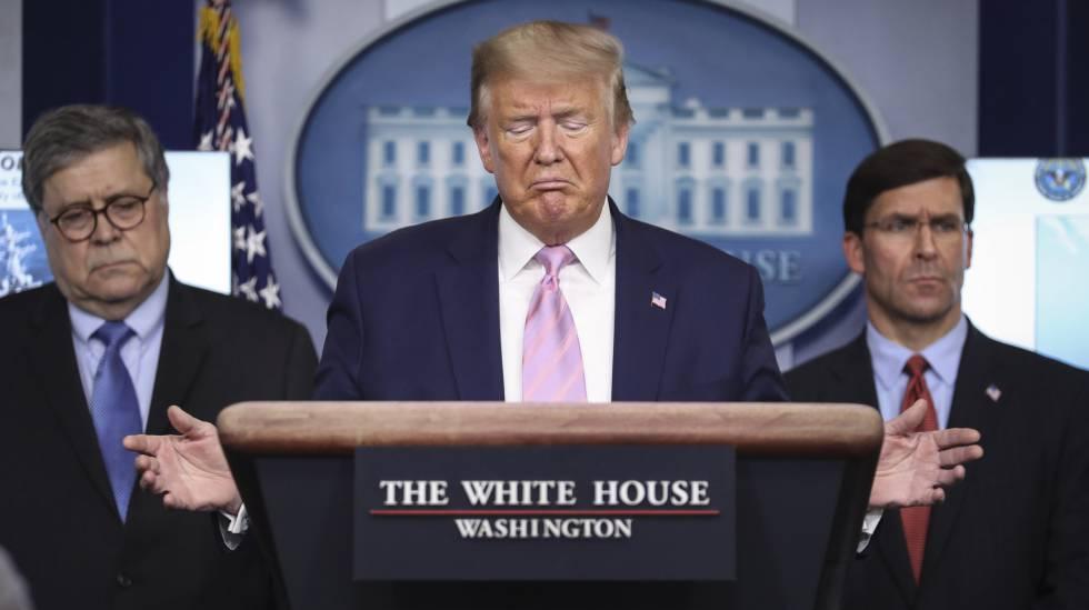 El presidente de Estados Unidos, Donald Trump, este miércoles en la Casa Blanca. rn rn