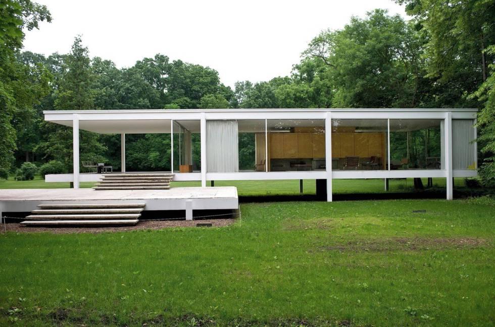 Casa Farnsworht de Mies van der Rohe. Plano, Illinois, 1951.