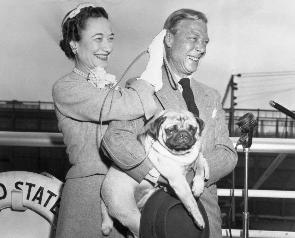 El duque de Windsor junto a Wallis Simpson en 1937, ese mismo año la pareja se casó.
