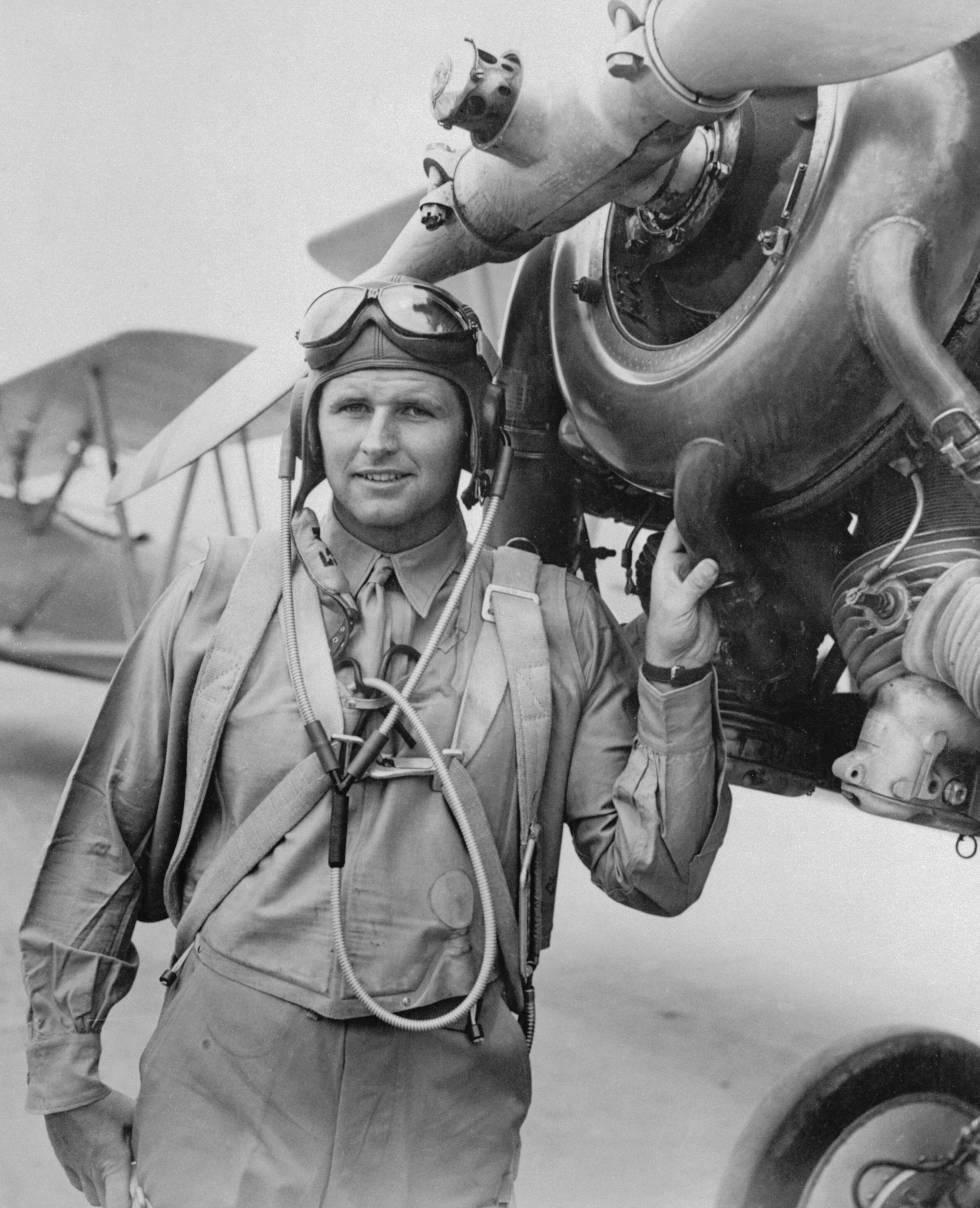 Joseph P. Kennedy Jr. con el uniforme de piloto en 1941. Murió combatiendo en la Segunda Guerra Mundial.