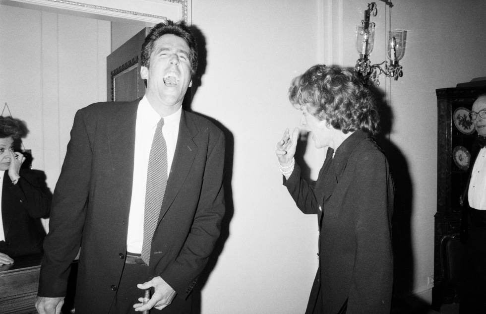 Pat Kennedy Lawford con su hijo Christopher Lawford en 1993.