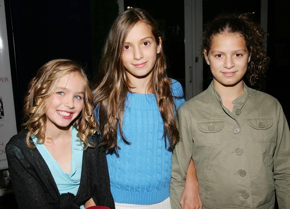 Las nietas de Robert F. Kennedy, Saoirse Kennedy Hill, Mariah Kennedy Cuomo y Cara Kennedy Cuomo, en Nueva York en 2006.