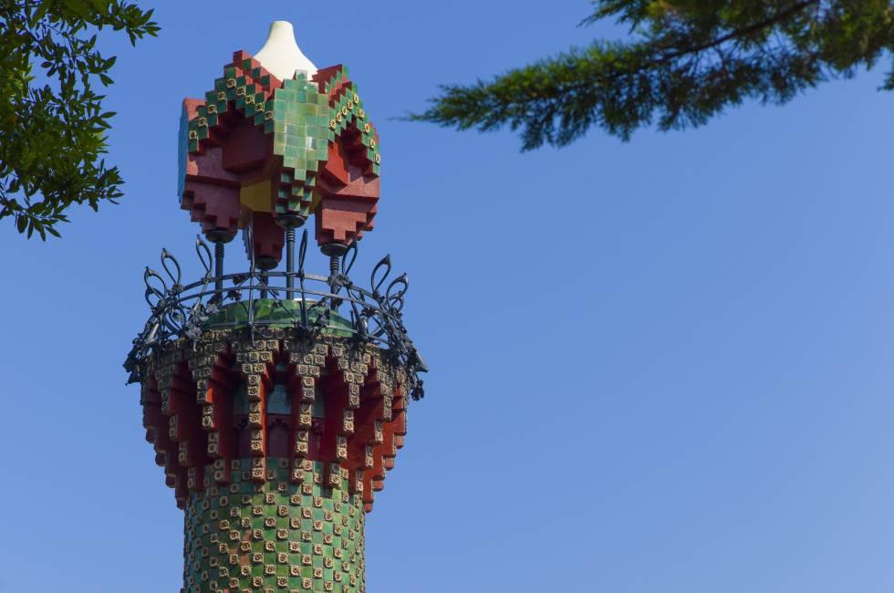 El minarete de la casa El Capricho, en Comillas.
