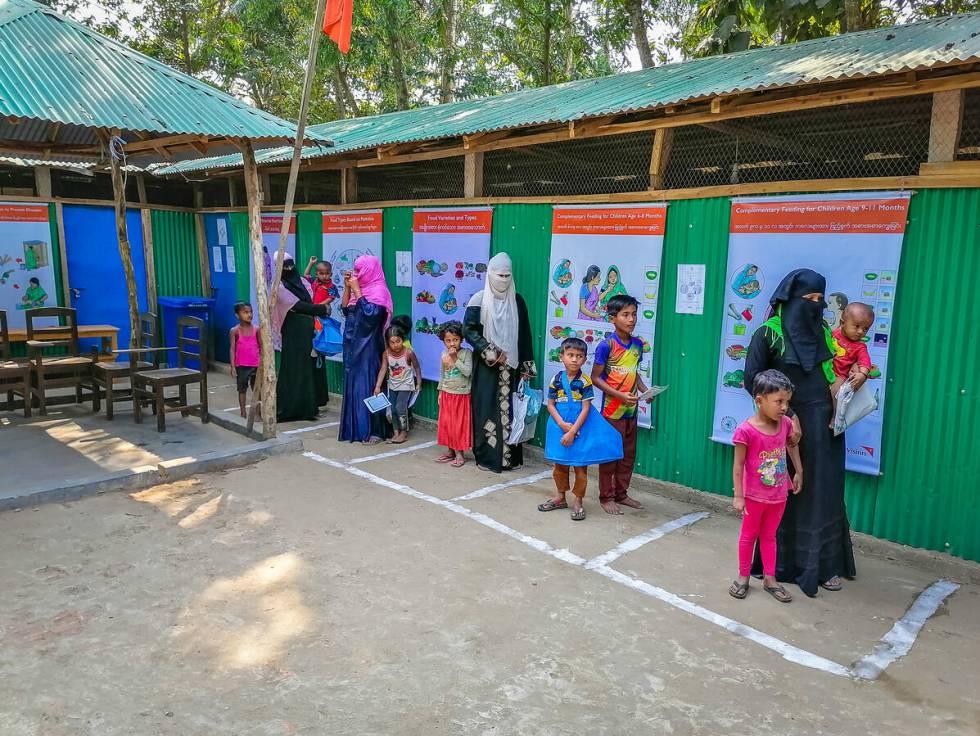 Campo de refugiados Rohingya en Bangladés.