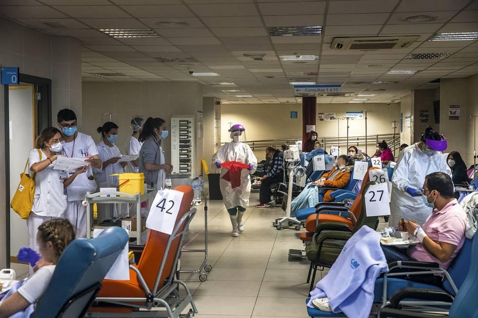 Una sala en urgencias destinada a pacientes con coronavirus.