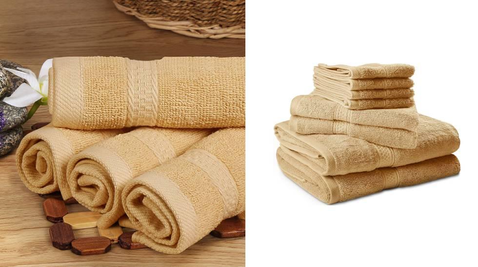En cinco colores y de algodón: el juego de ocho toallas que triunfa en Amazon
