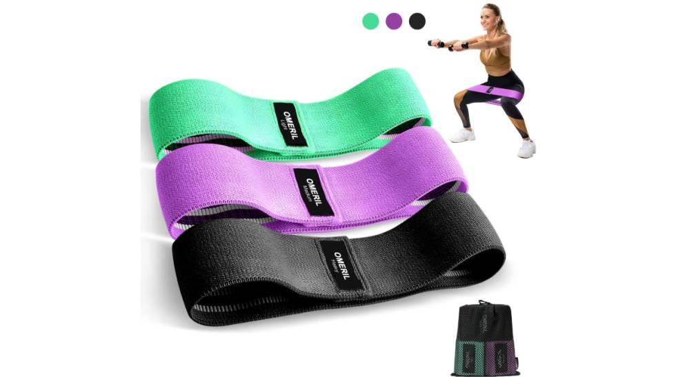 Fortalece glúteos, brazos y piernas con este 'pack' de bandas elásticas antideslizantes