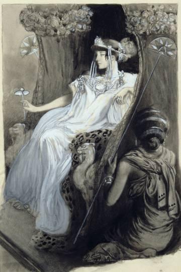 Ilustración del acuarelista Antoine Calbet para una edición de lujo de 'Afrodita'.