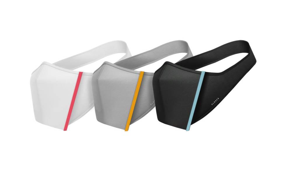 'Closca Mask' en tres colores y con cinco marcas coloreadas para diferenciarlas en una misma familia u oficina.