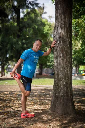 Gutierrez entrenando en Buenos Aires poco antes de que se declarase la cuarentena en la capital argentina por el coronavirus.