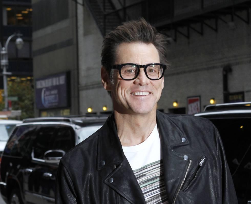 Jim Carrey llegando como invitado al 'Late Show with David Letterman' en 2014.