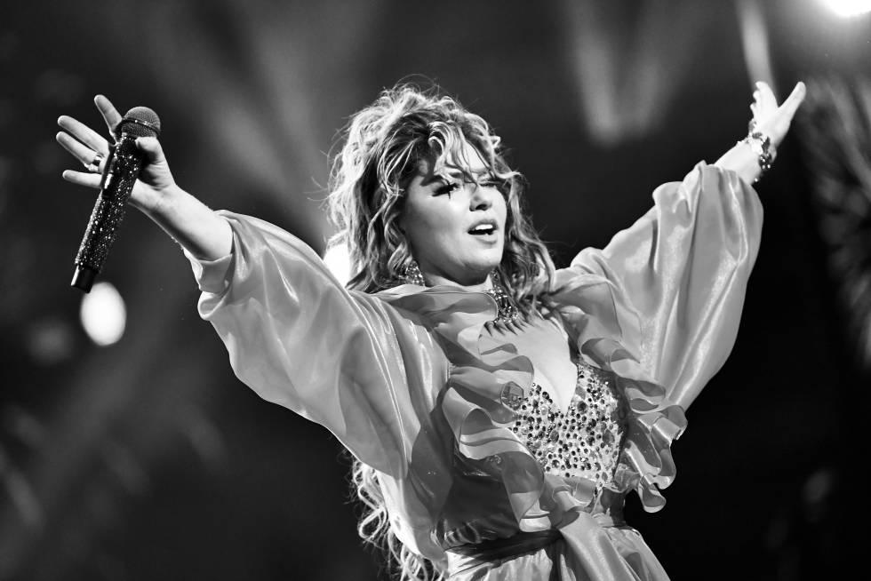 Shania Twain actuando en los American Music Awards de 2019 en Los Ángeles.