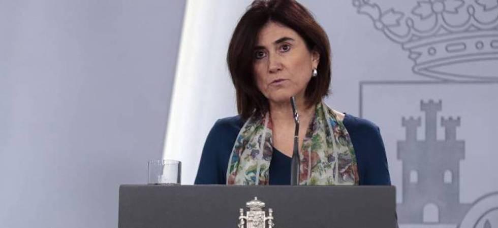 María José Sierra, jefa de Área del Centro de Coordinación de Alertas y Emergencias Sanitarias del Ministerio de Sanidad, durante una rueda de prensa.