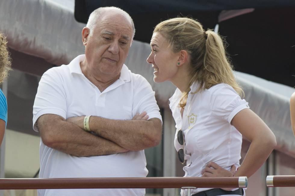 Amancio Ortega con su hija Marta Ortega en Mónaco en 2012.