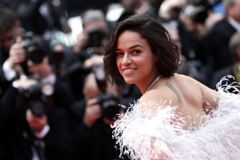 Michelle Rodríguez la proyección de 'Érase una vez en Hollywood' en Cannes en 2019.