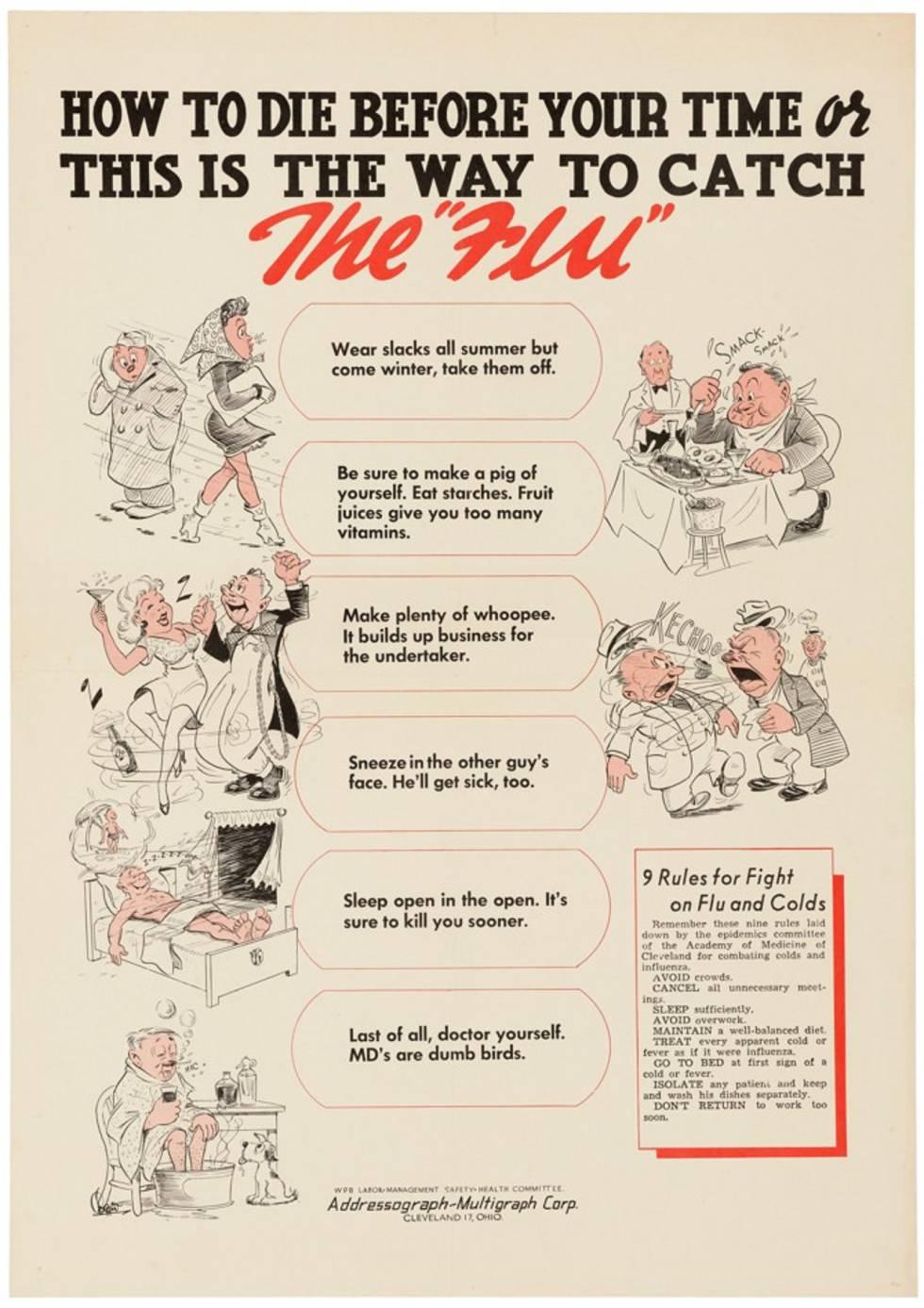 Cartelería pandémica: los fantasmas de las epidemias pasadas