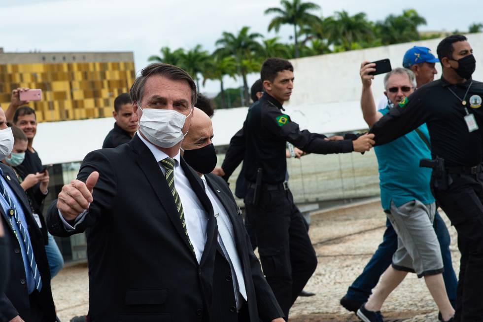 Jair Bolsonaro el pasado 7 de mayo en Brasilia.