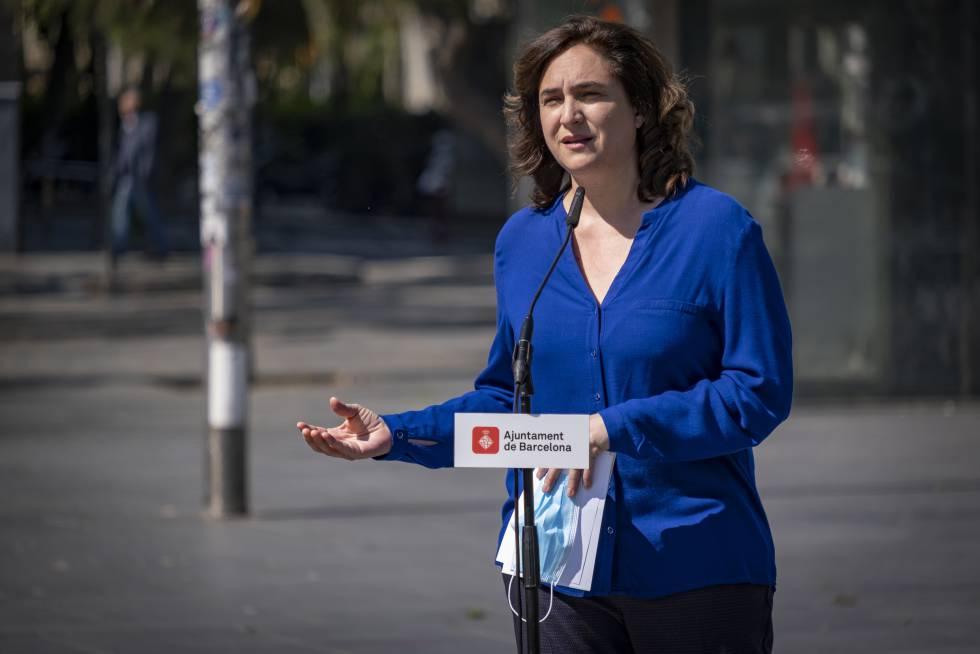 Ada Colau durante una rueda de prensa el pasado 25 de abril.
