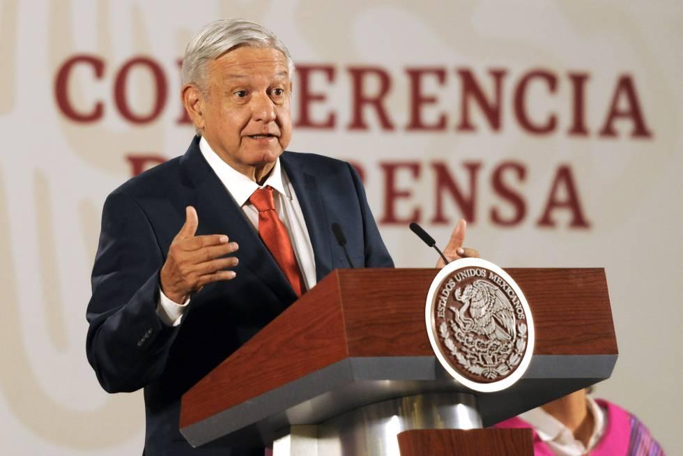 Andrés Manuel López Obrador, presidente de México, durante una conferencia el pasado 25 de marzo.
