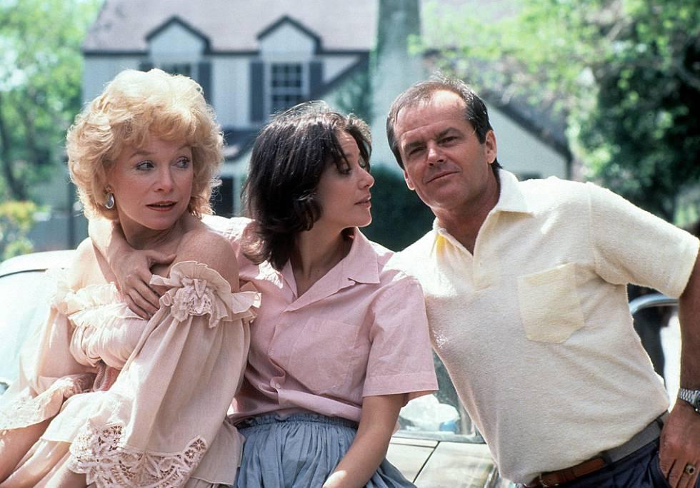 Shitley McLaine, Debra Winger y Jack Nicholson en 'La fuerza del cariño'.