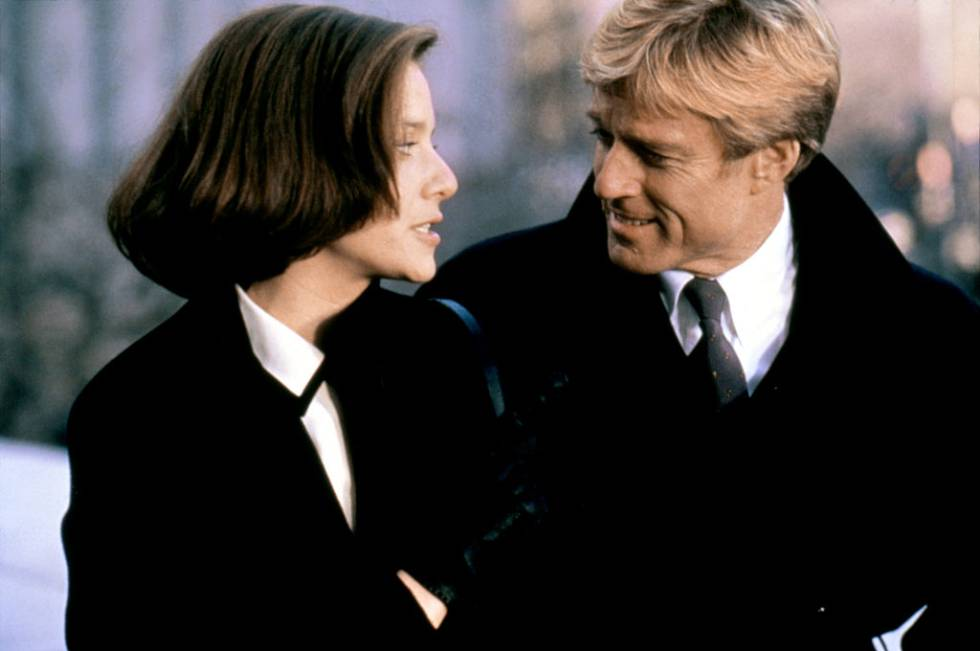 Debra Winger y Robert Redford en 'Peligrosamente juntos'.