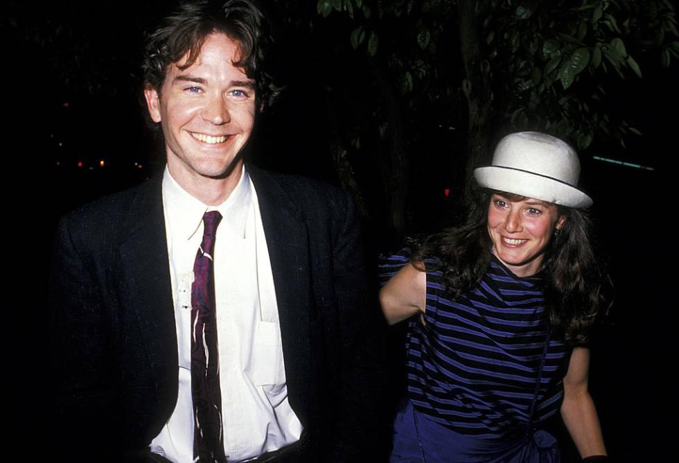 Debra Winger con Timothy Hutton, con quien tiene un hijo y estuvo casada entre 1986 y 1990.