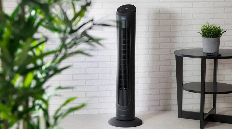 Prepare for the heat with this quiet, programmable fan, lowered to 50%