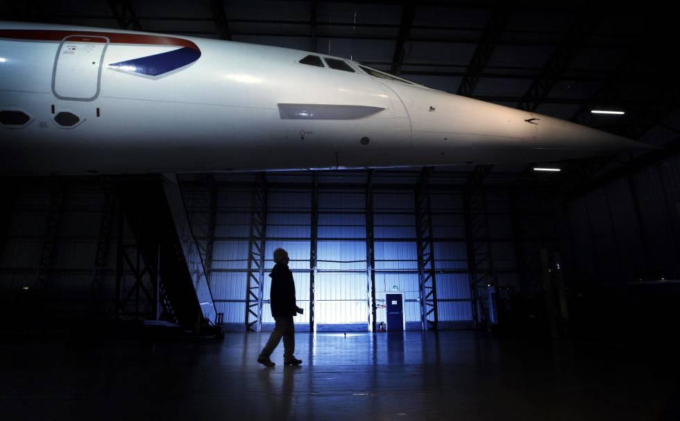 Un Concorde descansa en el Museo de Aviación de Escocia, donde está expuesto desde 2009.