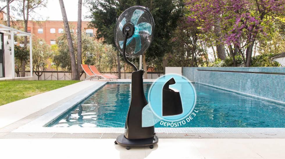 Rebajado al 50 % y con nebulizador: este ventilador es perfecto para refrescarse en interiores y exteriores
