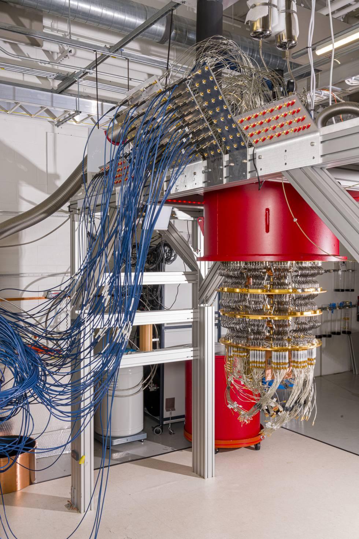 Siistema cuántico de Google en Santa Bárbara (EE UU).