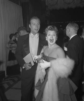 Lex Barker y Lana Turner cuando eran marido y mujer.