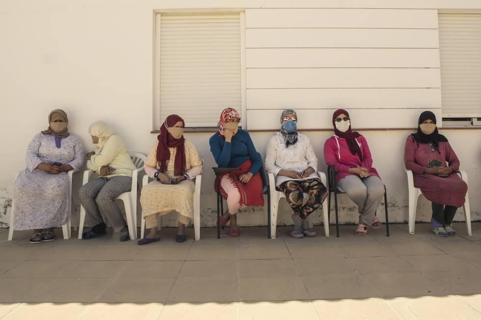 Un grupo de temporeras marroquíes, llegadas a Huelva a principios de año para trabajar en la campaña de la fresa, reclama el regreso a su país. Unas 7.000 se han quedado varadas sin trabajo y sin poder volver debido al cierre de fronteras.