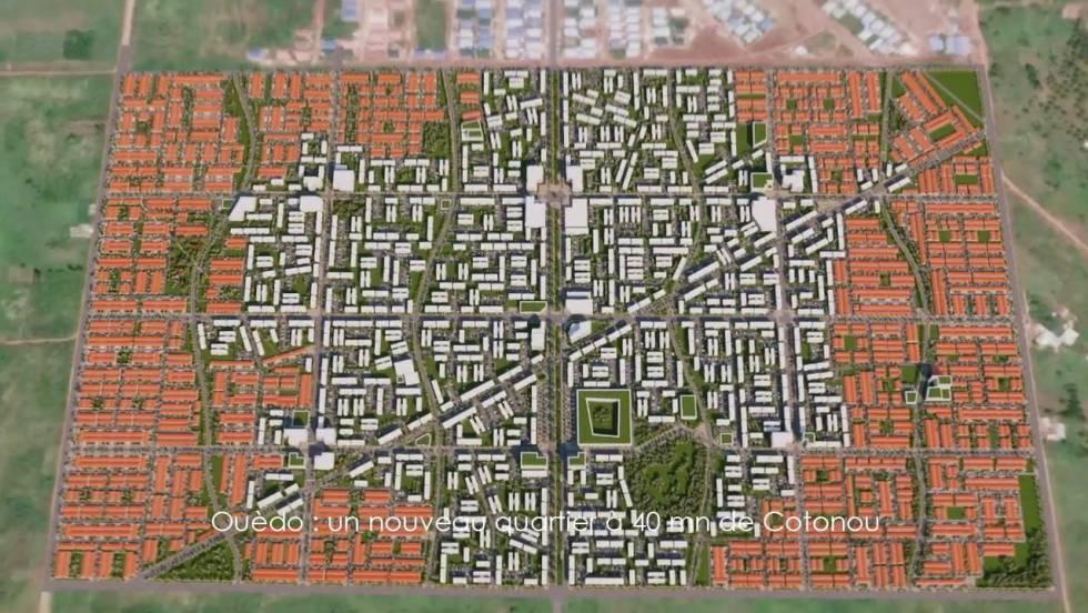 Plano del proyecto de ciudad sostenible de Ouèdo, Benin.