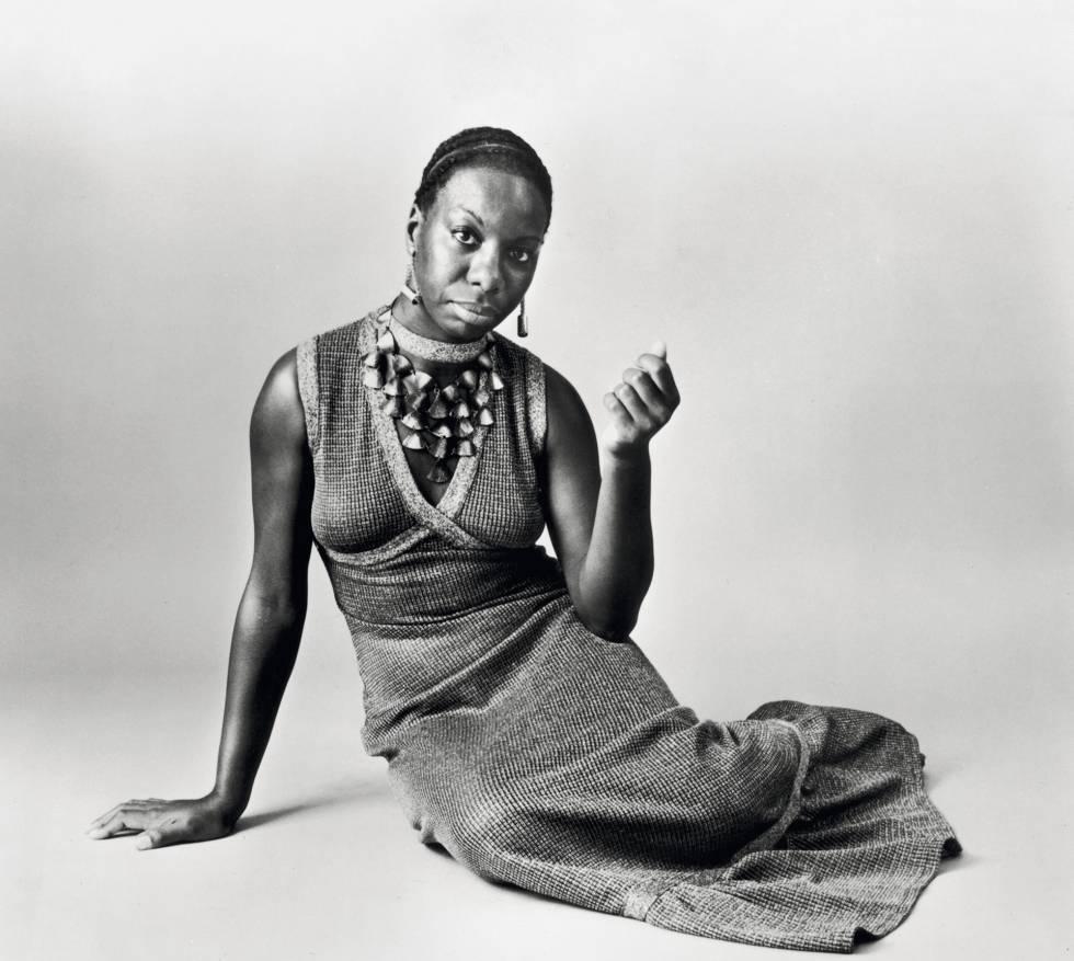 Nina Simone (1933-2003), em uma fotografia de 1968.