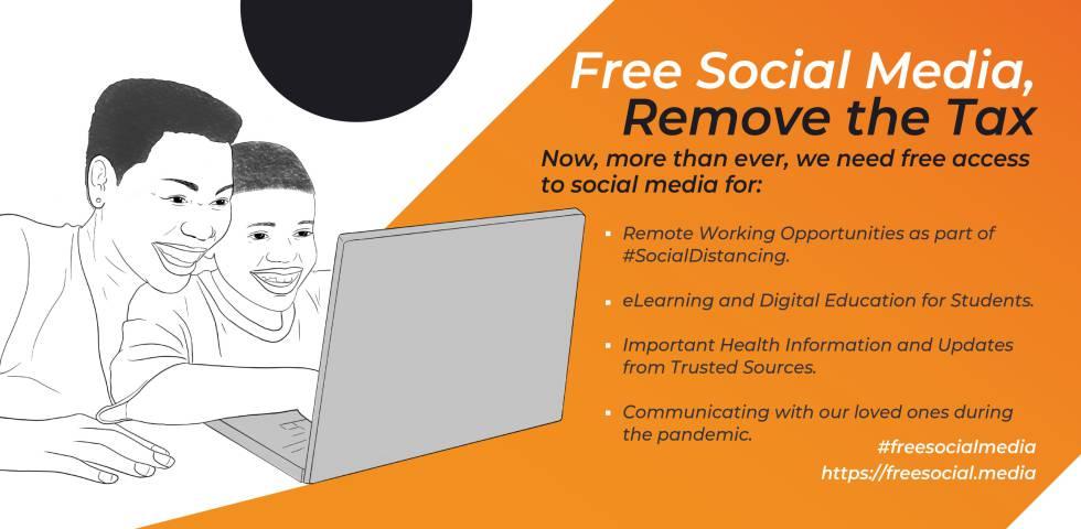 Imagen de la campaña contra la tasa a las redes sociales en Uganda.