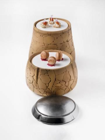 Pieza que simula un corcho diseñada para el restaurante Coque, de Mario Sandoval.