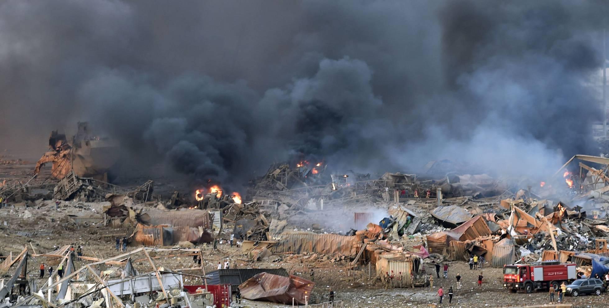 Fotos: La gran explosión en la zona del puerto de Beirut, en ...