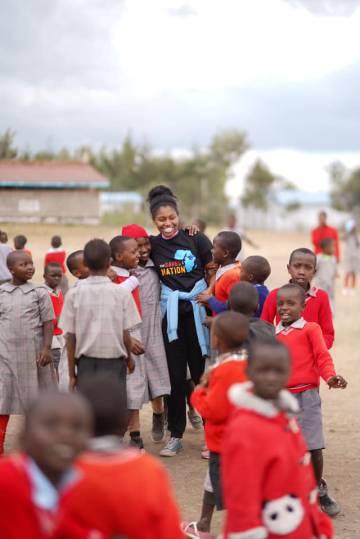 Sophia Andrews, en uno de sus viajes a Kenia.