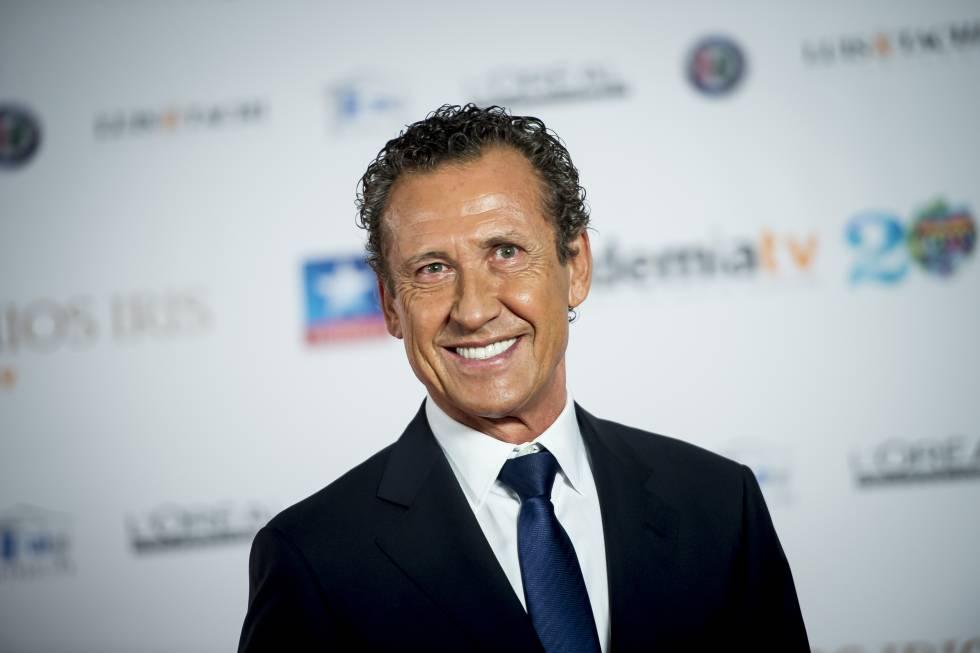 Jorge Valdano en la gala de los Premios Iris en Madrid en 2017.