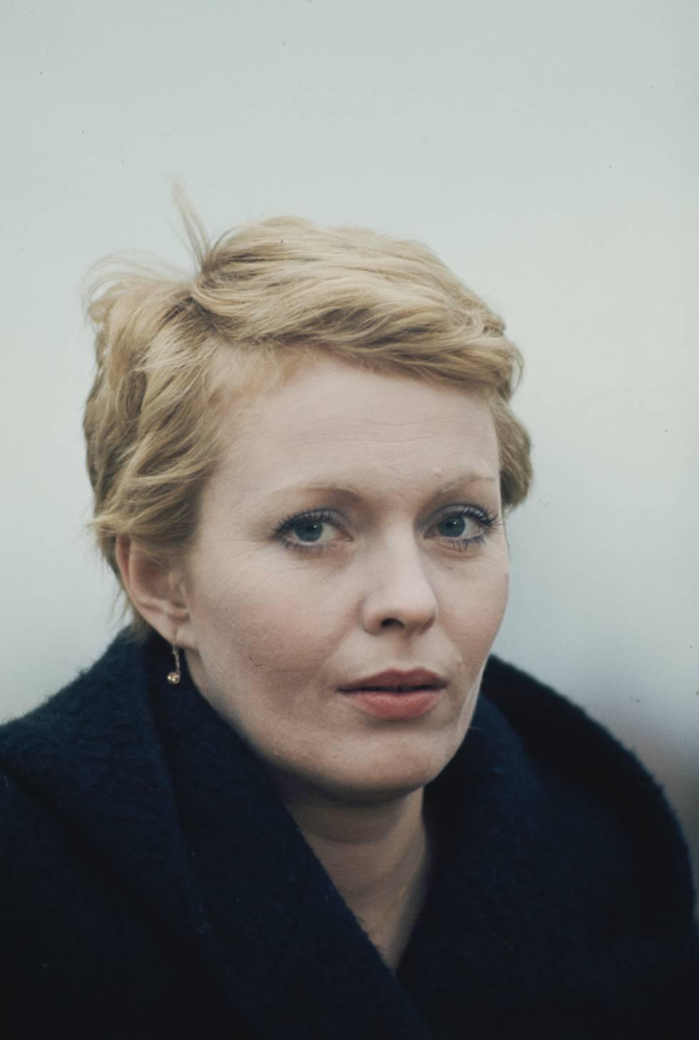 Jean Seberg fotografiada en 1975, cuatro años antes de su fallecimiento.