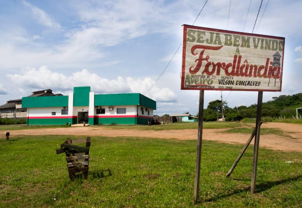 La pequeña ciudad de Fordlândia es hoy un lugar donde el tiempo pasa lentamente.