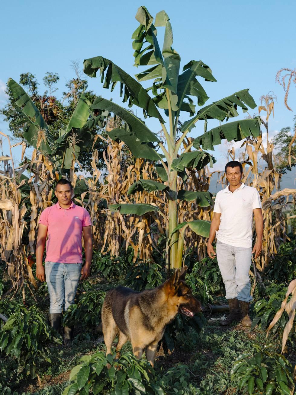 Ismael Perdomo y su hijo Oswaldo, en la finca Bonanza.