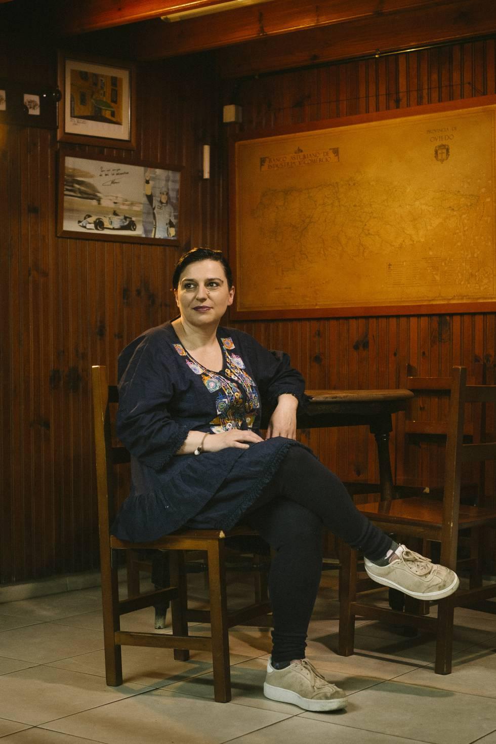 Belén Rodríguez, que heredó el bar de sus padres.