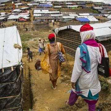 Abeda Sultana Liza, durante una de las jornadas de trabajo en Cox´s Bazar, Bangladés.