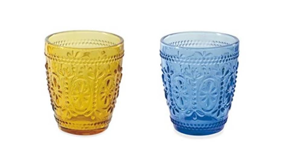 En varios colores y de estilo retro chic: así es el juego de vasos de agua más vendido en Amazon