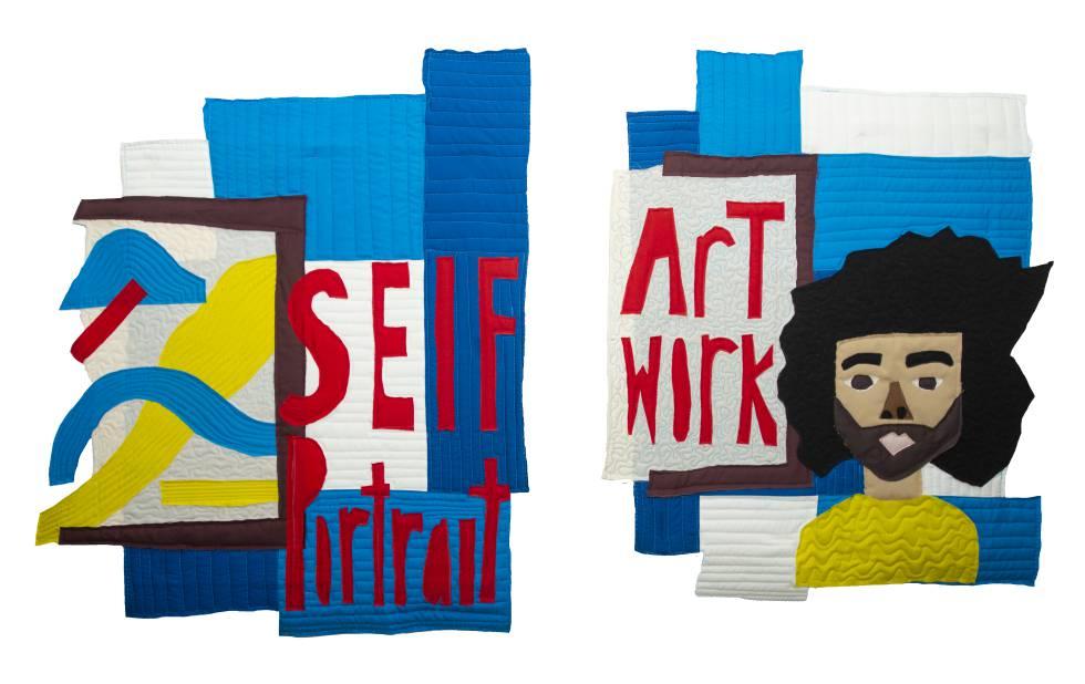 Obra textil del artista estadounidense Thorpe para Reebok.
