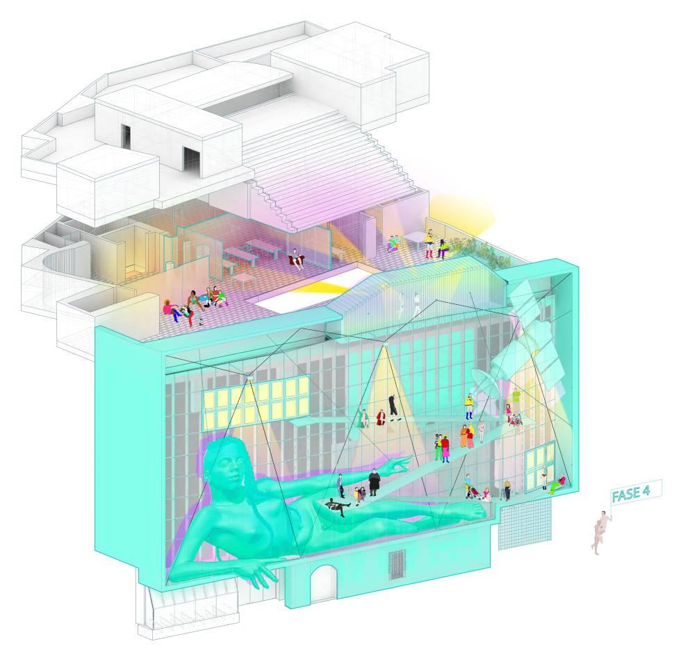 Fase 4 del proyecto Reset para la transformación del Centro de Arte 2 de Mayo de Móstoles (Madrid).