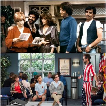 En 2017, Netflix resucitó la telecomedia familiar de los 70 y 80 'Día a día' (arriba en la imagen) y la reconstruyó con una familia latina (abajo).