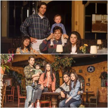 En la original 'Party of Five' (arriba en la imagen), los cinco hermanos blancos Robinson perdían a sus padres en una accidente de coche. En la nueva (abajo), son mexicanos y a los padres los internan en un centro de detención.