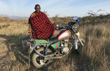 William Mollel, masai y propietario de Osiligilai Massai Lodge.